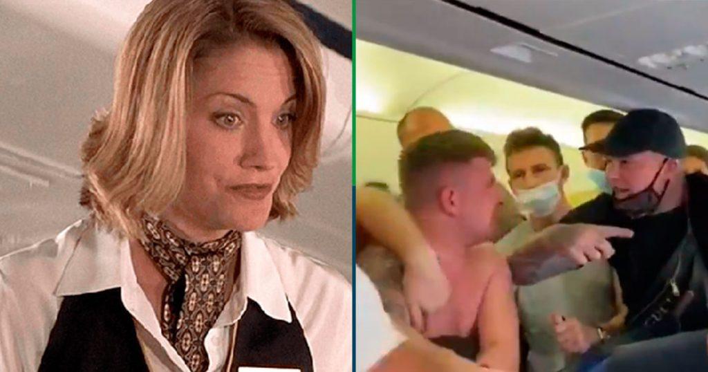Y siguen los sapes: le dan 'pamba' a pasajero que no quería usar cubrebocas en el avión