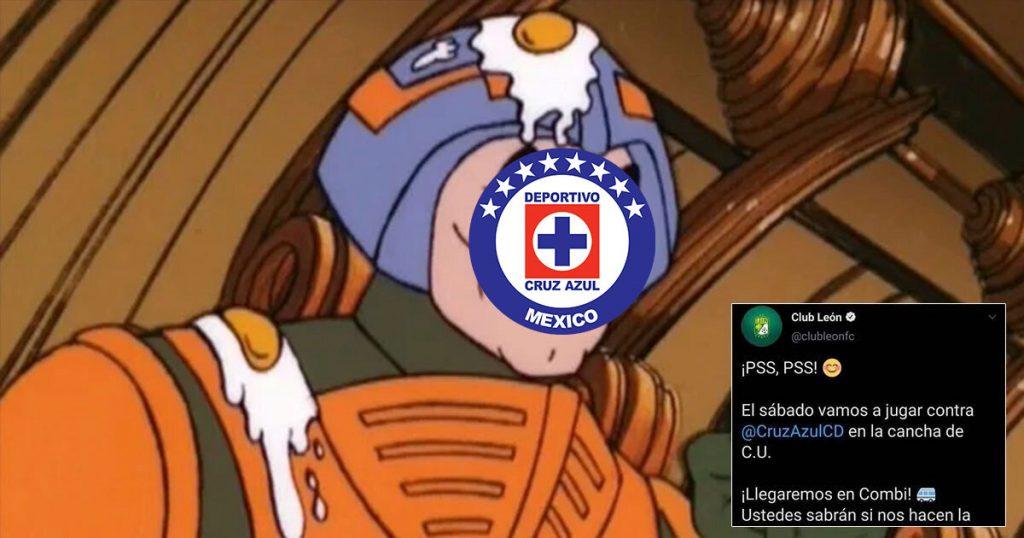 El Club León también se subió a lo de la combi y le dio épicamente al Cruz Azul