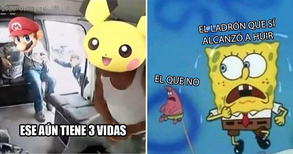 Cover Asalto Combi Pasajeros Memes