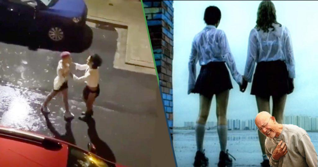 Si te gustaba t.A.T.u., ya hicieron la parodia de su video bajo la lluvia en cuarentena