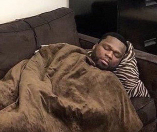 50 cent sleeping meme