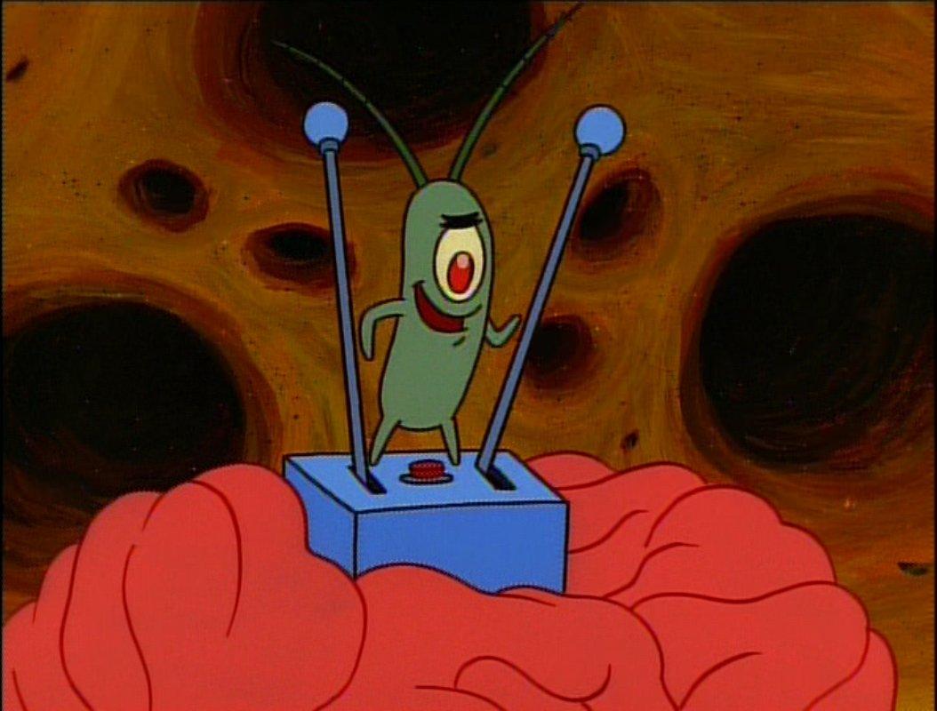 plankton cerebro bob esponja