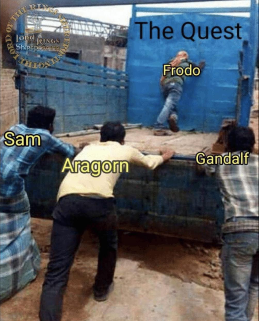 El Señor de los Anillos meme Frodo Gandalf