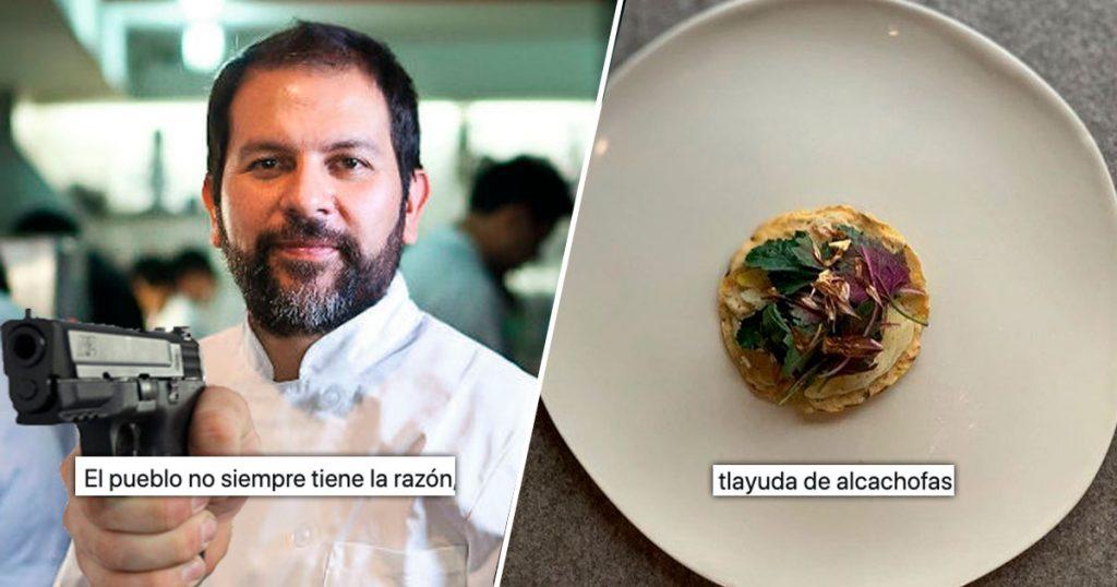 El Chef Enrique Olvera dijo que el pueblo no tiene la razón y la raza se le fue al cuello
