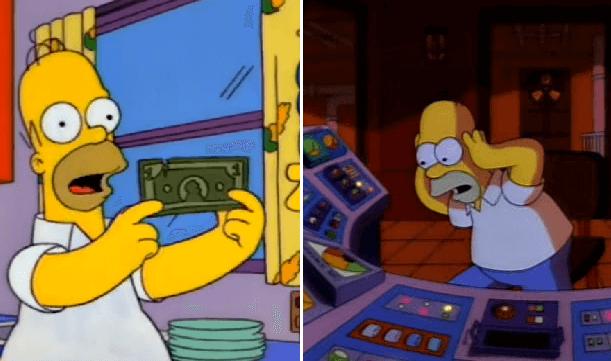 Por fin alguien descubrió cuánto gana Homero por trabajar en la planta nuclear