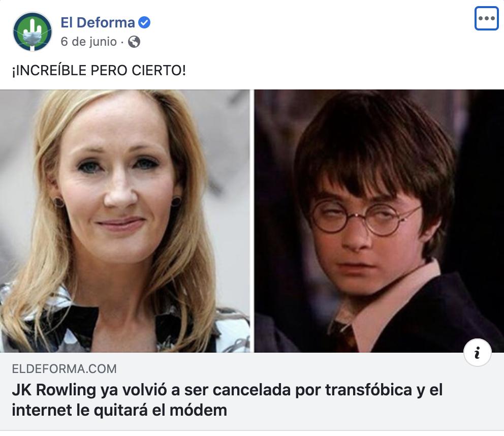 J.K. Rowling El Deforma Nota Harry Potter