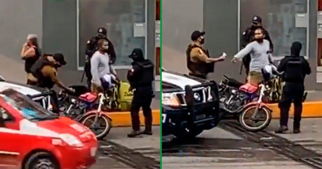 policía siembra droga a moto y los suspenden