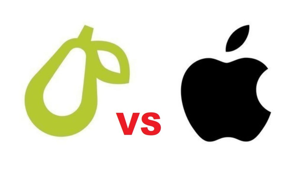 IPC: Apple demanda a empresa de 5 empleados por usar logo de una pera