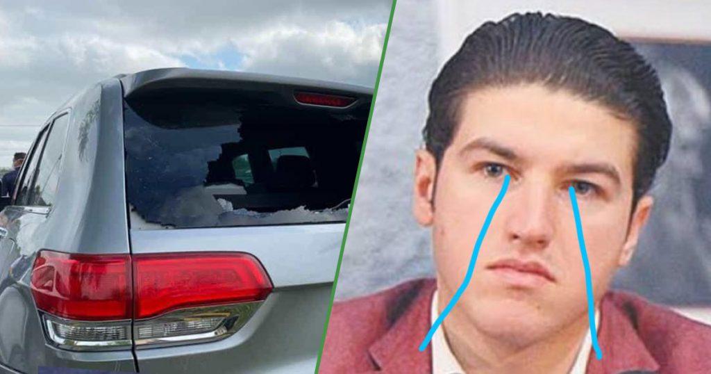 Con mi camioneta no: Así quedó el auto de Samuel García tras protesta