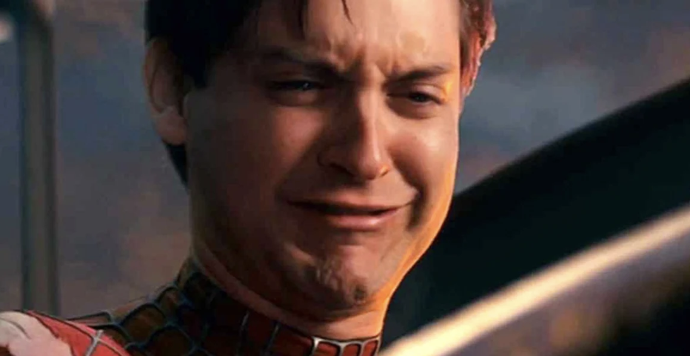 spider-man 3 peter crying