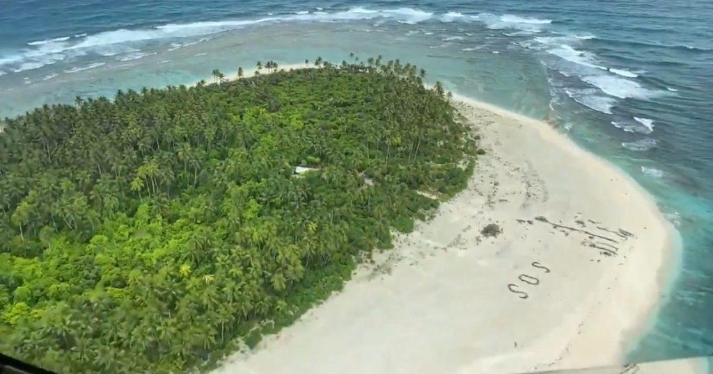 ¿Tom Hanks, eres tú?: Señal de SOS salva a náufragos en isla desierta