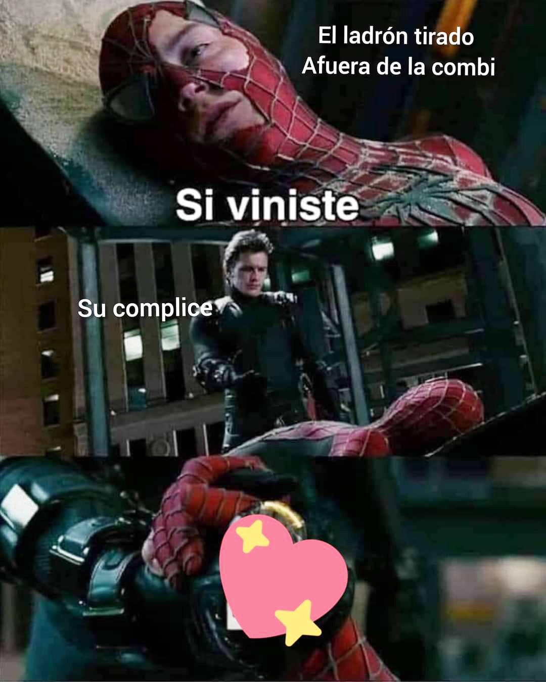 Spiderman 3 ladrón meme si veniste