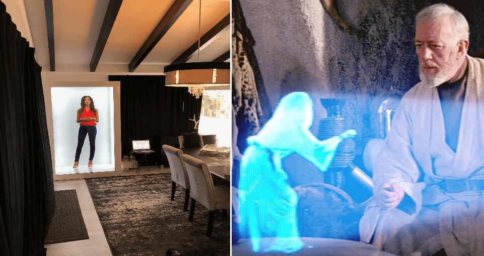 Harto de las videollamadas: Ahora podrás hablar convertido en holograma