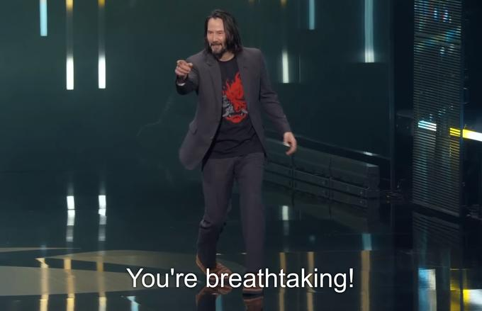 You're Breathtaking meme Keanu Reeves