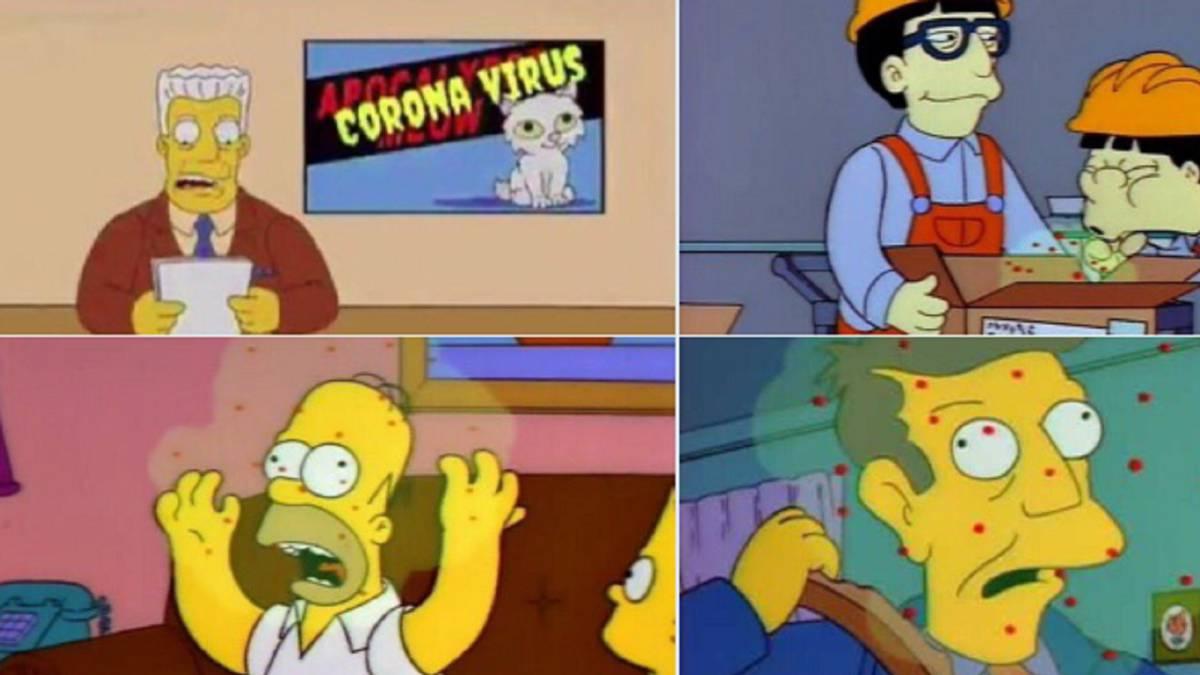 coronavirus simpsons meme //nota cruz azul