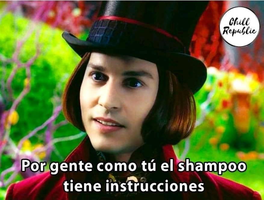 Willy Wonka meme shampoo