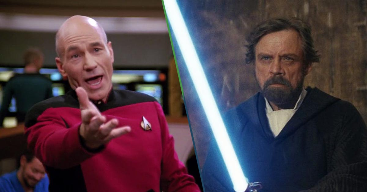 Star Wars vs Star Trek Mark Hamill Patrick Stewart