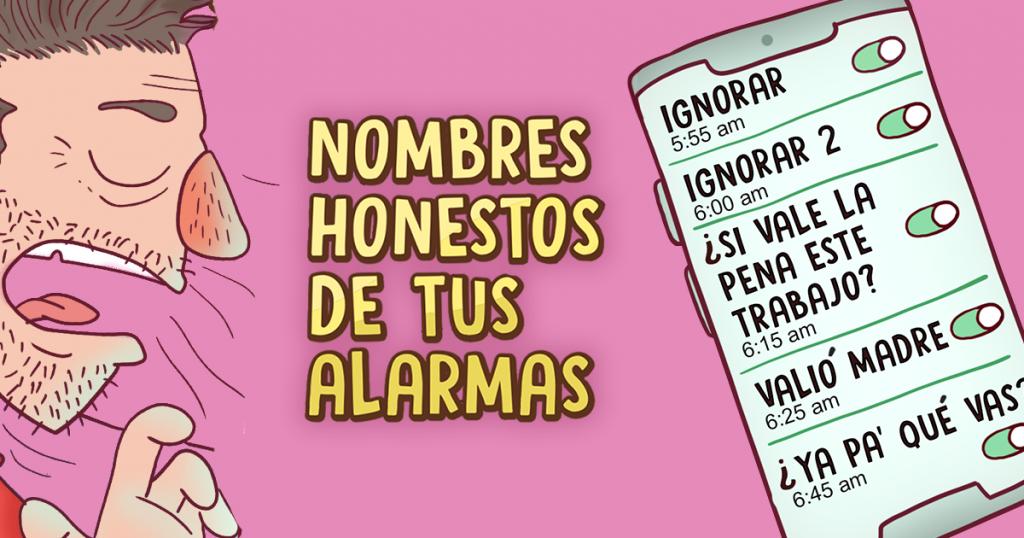 Nombres honestos de tus alarmas por la mañana