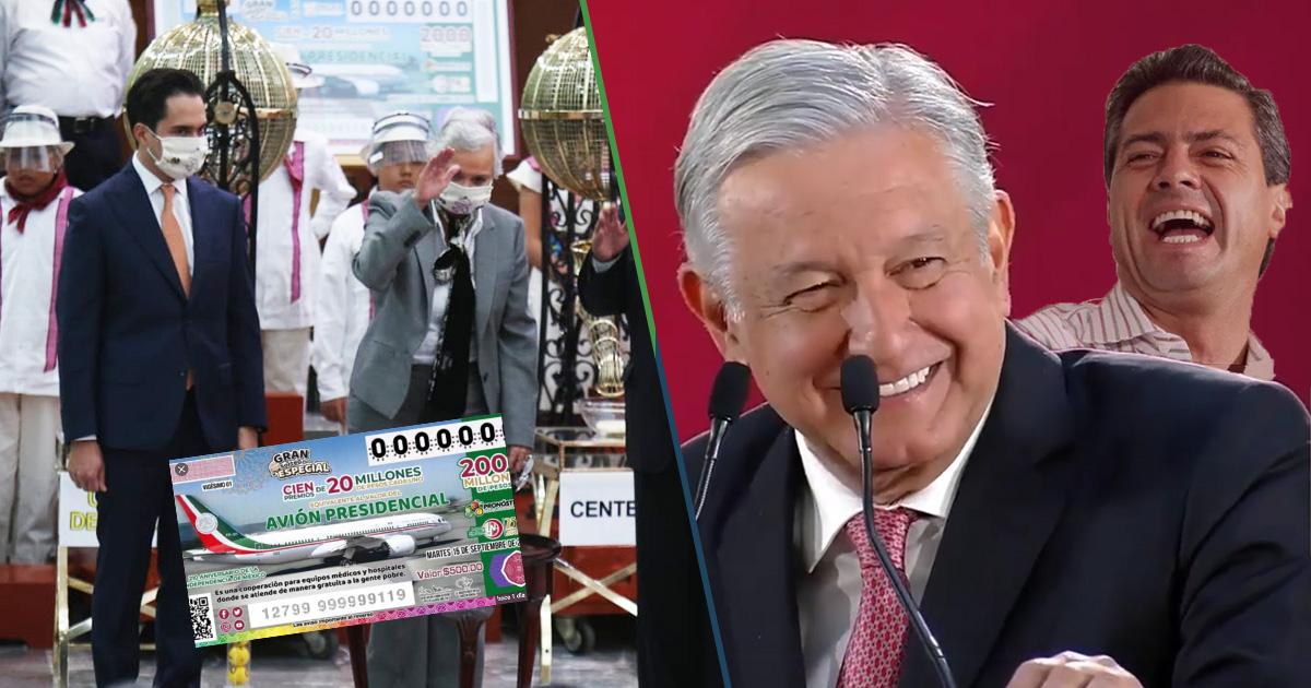 Cover Avión Presidencial Rifa Anual AMLO