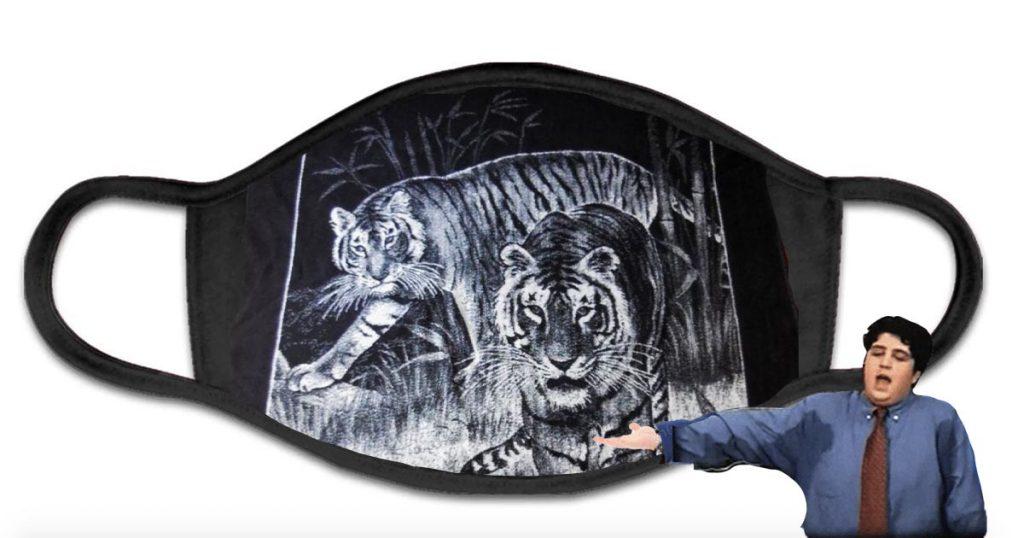 Cover Cubrebocas Colcha de Tigre Frente Frío