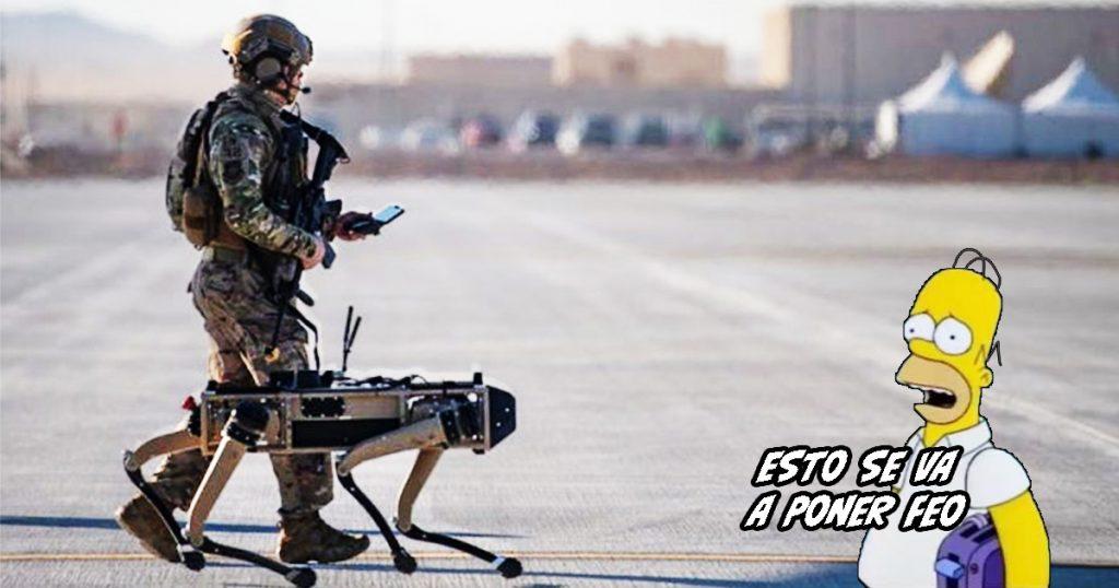 Cover Perros Robot Ejército Estados Unidos