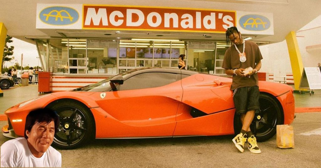 Cover Travis Scott Hamburguesa McDonalds