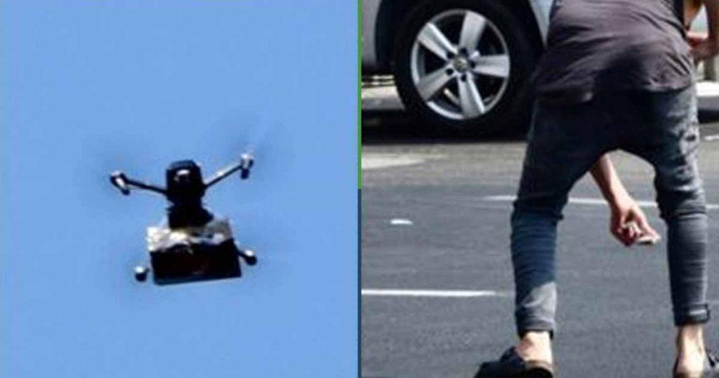 Dron deja caer marihuana activistas