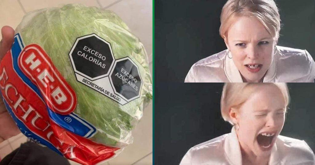 No vives de ensalada nivel: inocente lechuga es víctima del nuevo etiquetado