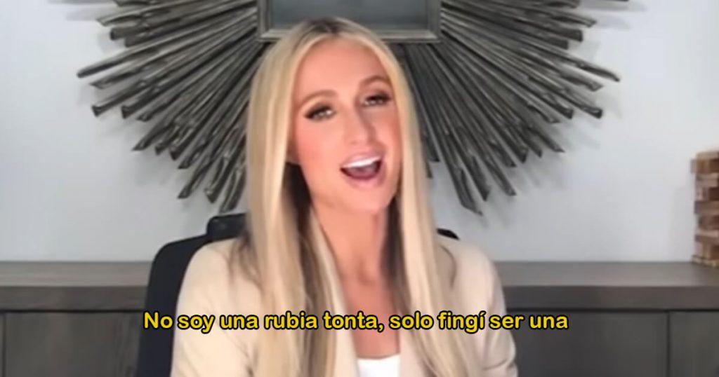 Última hora: Paris Hilton admite que es un personaje y revela su verdadera voz