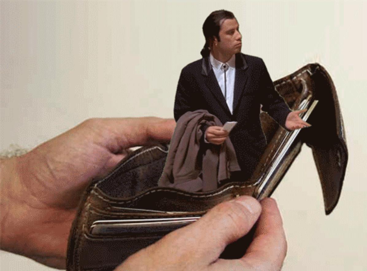 John Travolta wallet meme