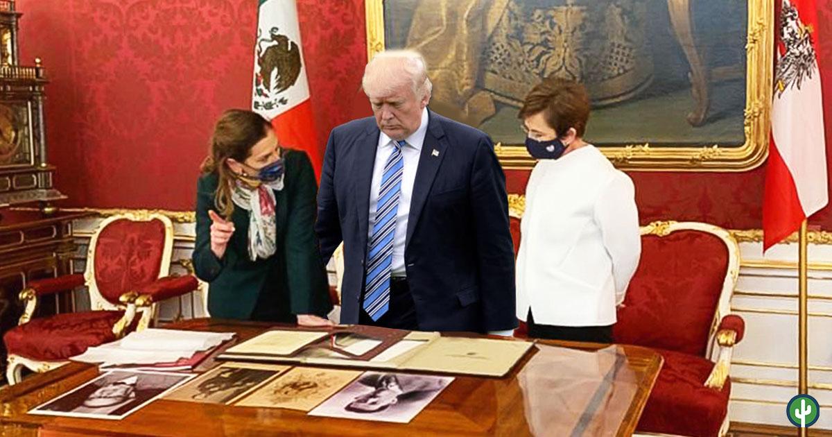 AMLO Beatriz Guiterrez Trump Penacho Territorios Perdidos