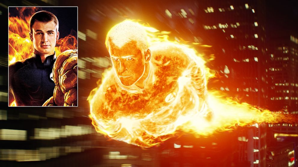 chris evans human torch