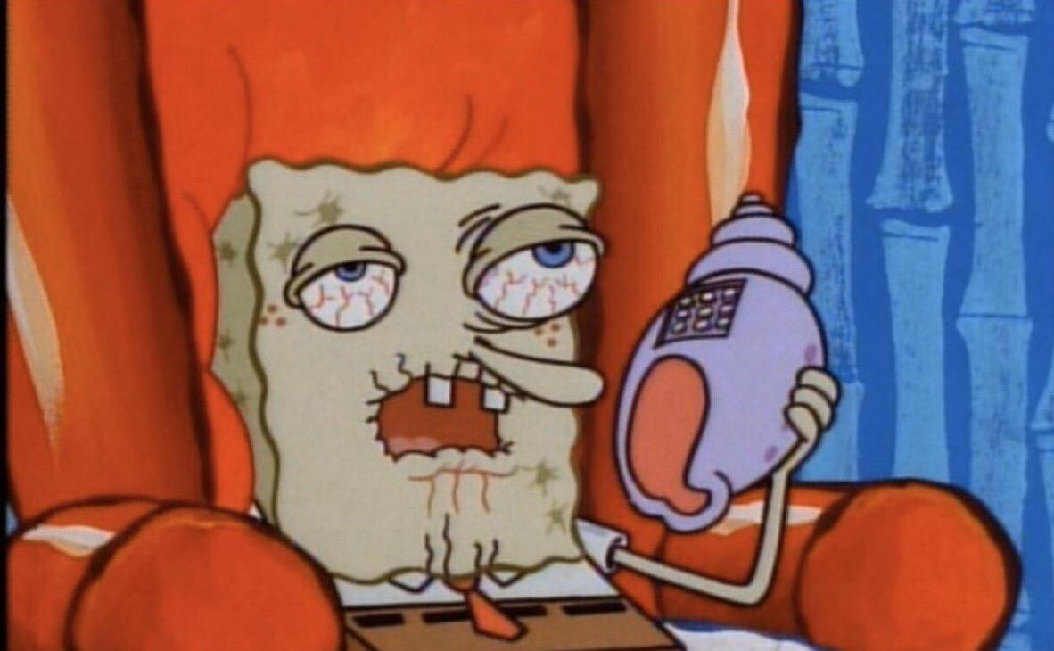 bob esponja enfermo