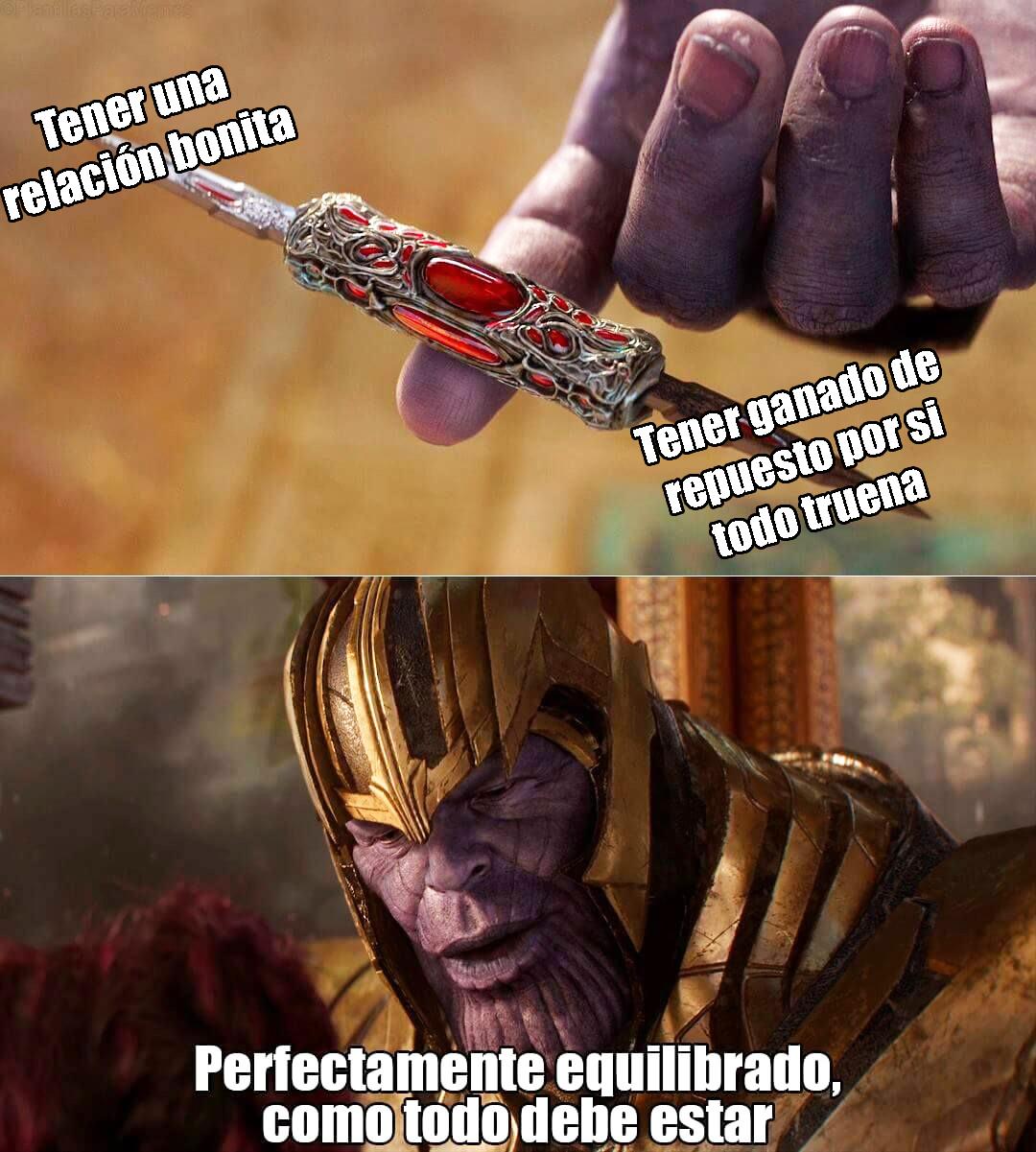 Thanos Relación Bonita Balance Meme