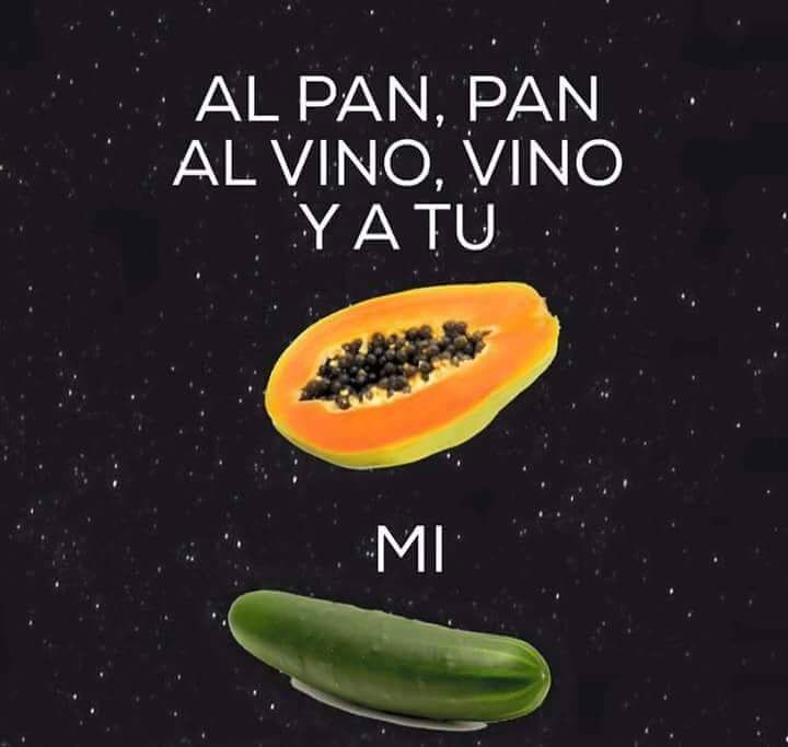 chile pan papaya pepino