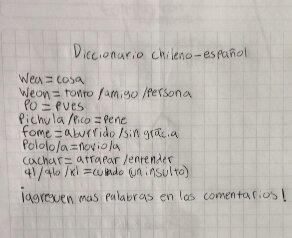 diccionario chileno español meme //nota navidad