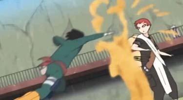 Rock Lee está a punto de pelear contra Gaara en el examen Chuunin… ¿qué canción está sonando de fondo?