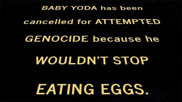 Baby Yoda cancelado