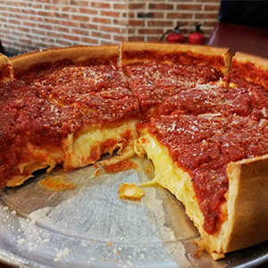 ¿De dónde es característica la pizza