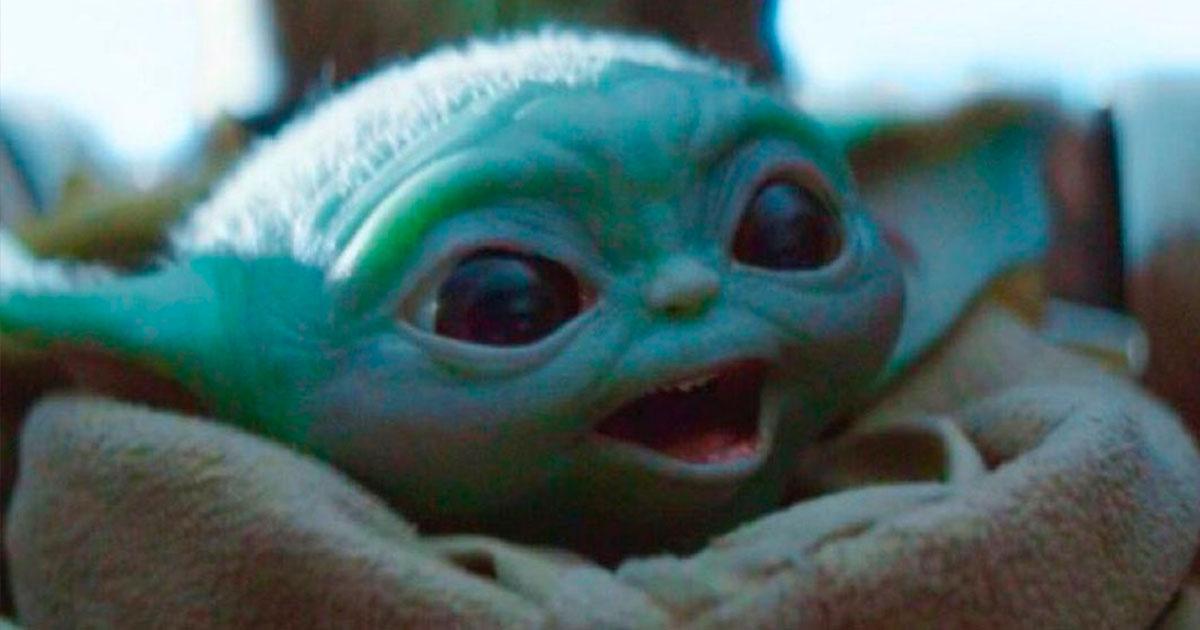 baby yoda smile