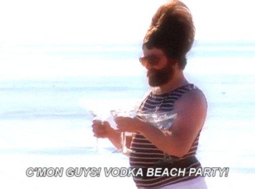 zach galifianakis beach vodka