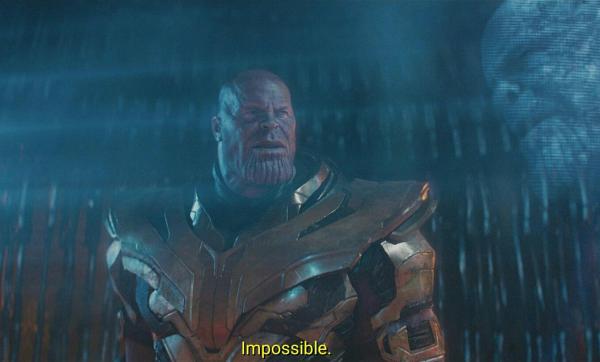 impossible thanos meme