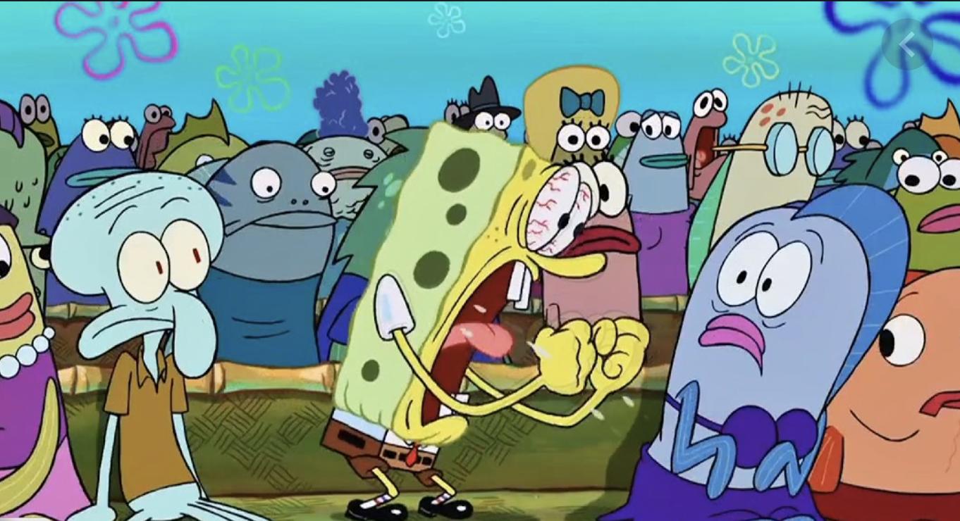 spongebob excited