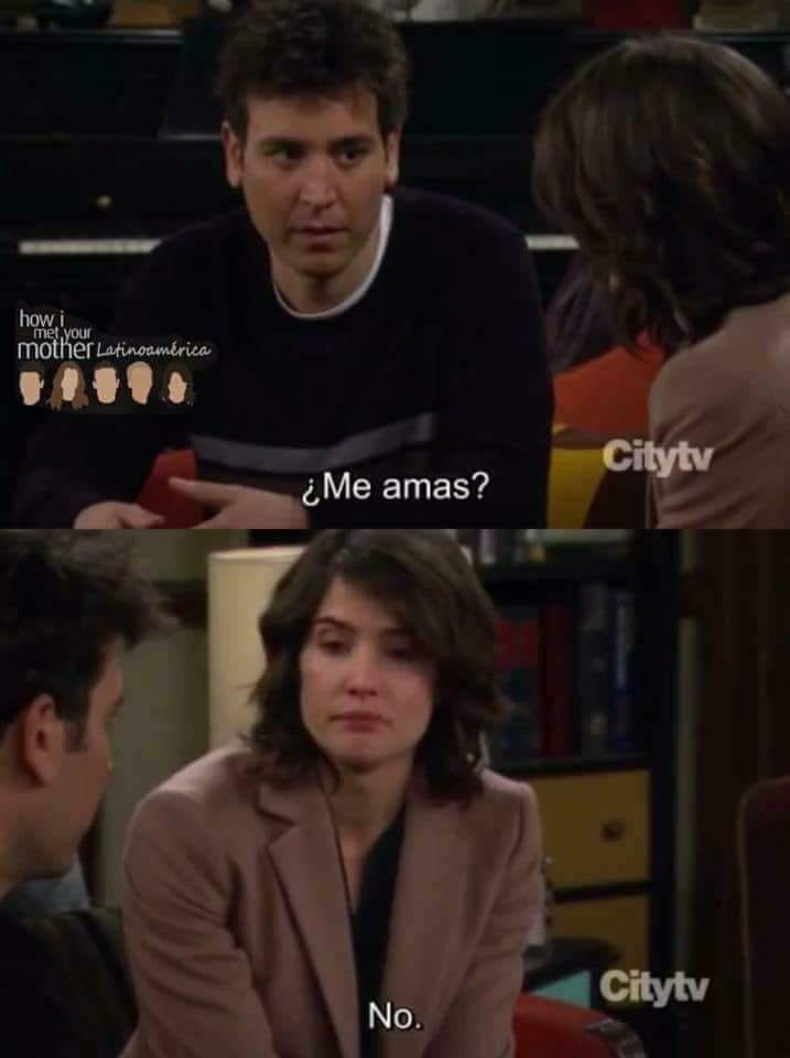 ted mosby how i met your mother do you love me //nota alcohol