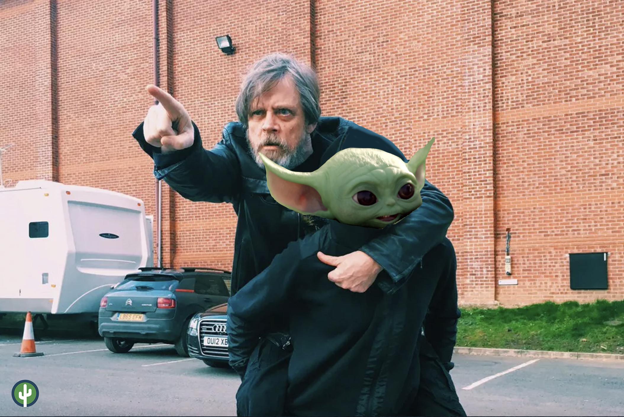 Luke Skywalker Rey Baby Yoda Grogu