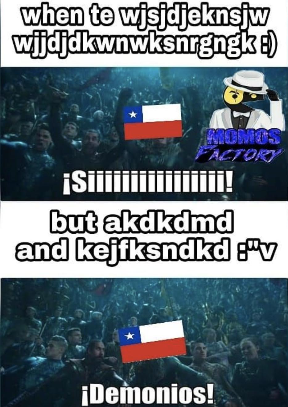 Como hablan los chilenos meme