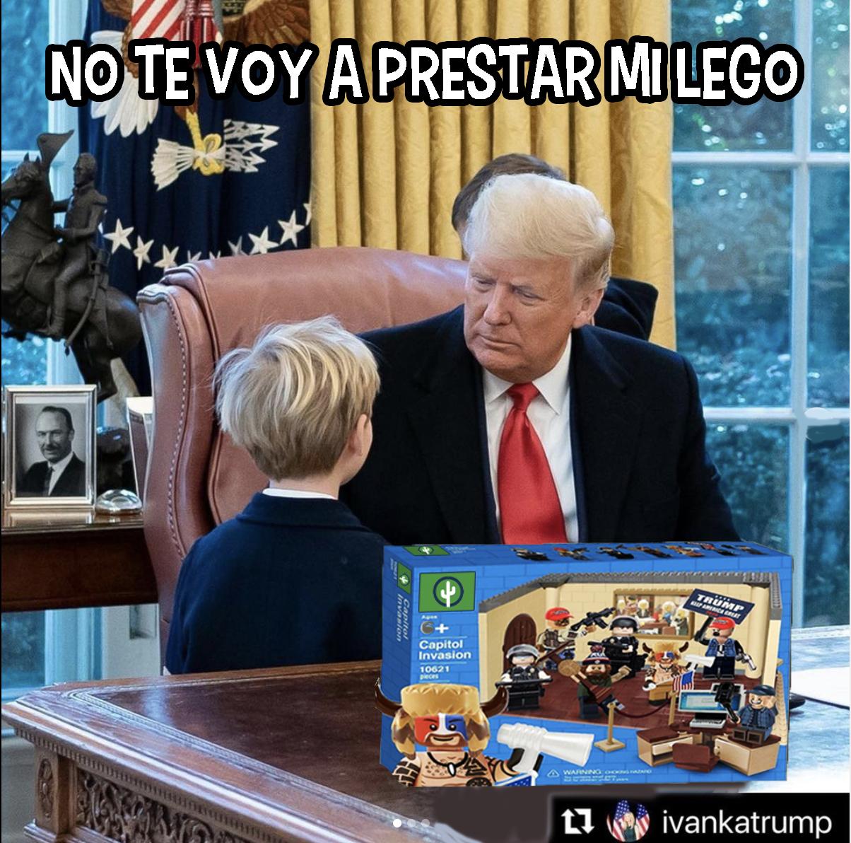 Donald Trump Lego Capitolio