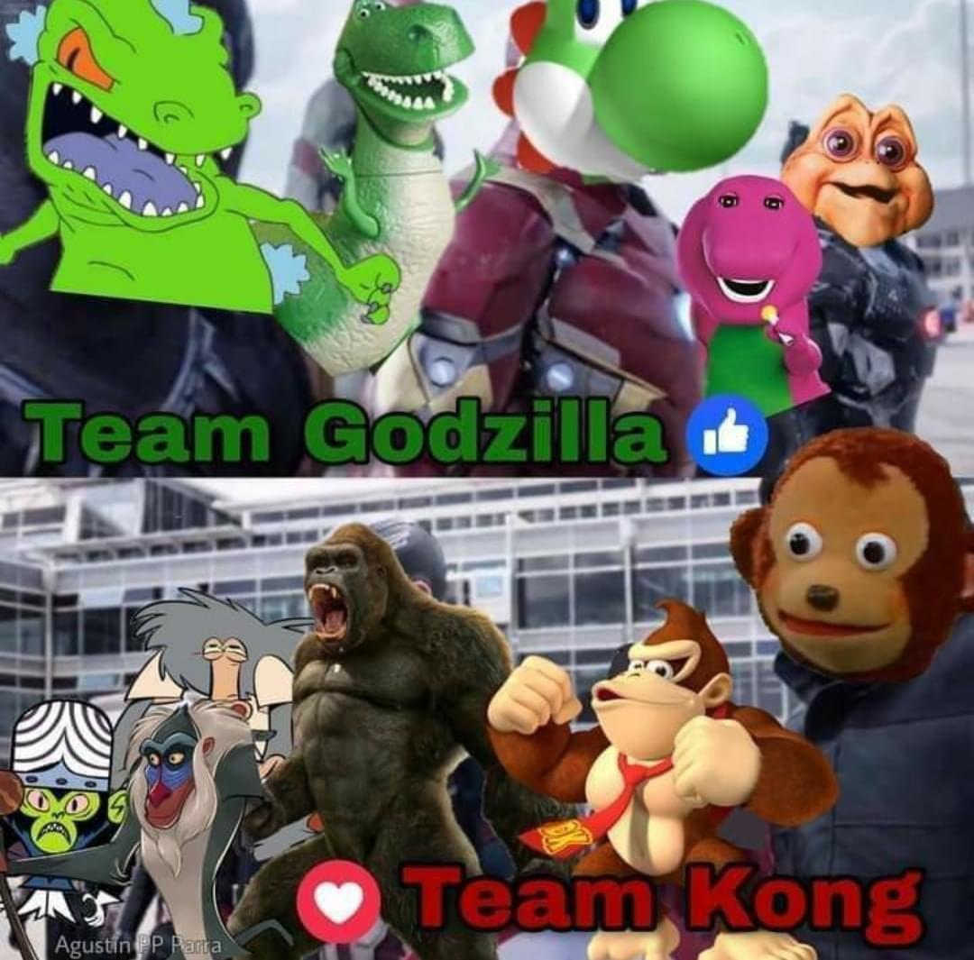 team godzilla team kong