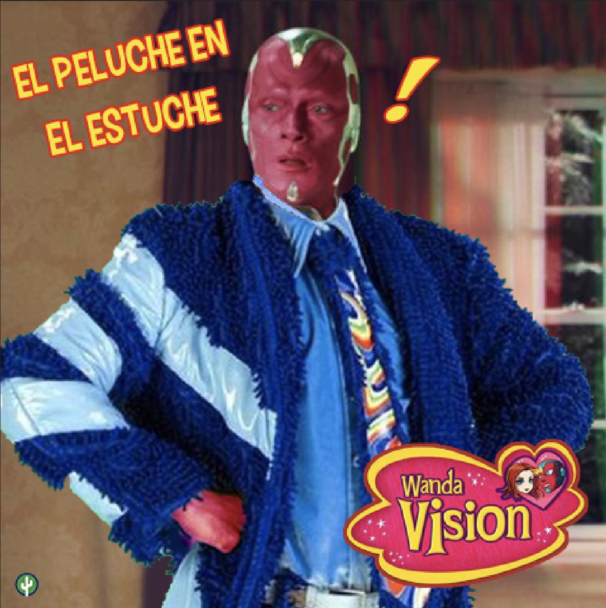 Wandavision Vision Familia Peluche Meme