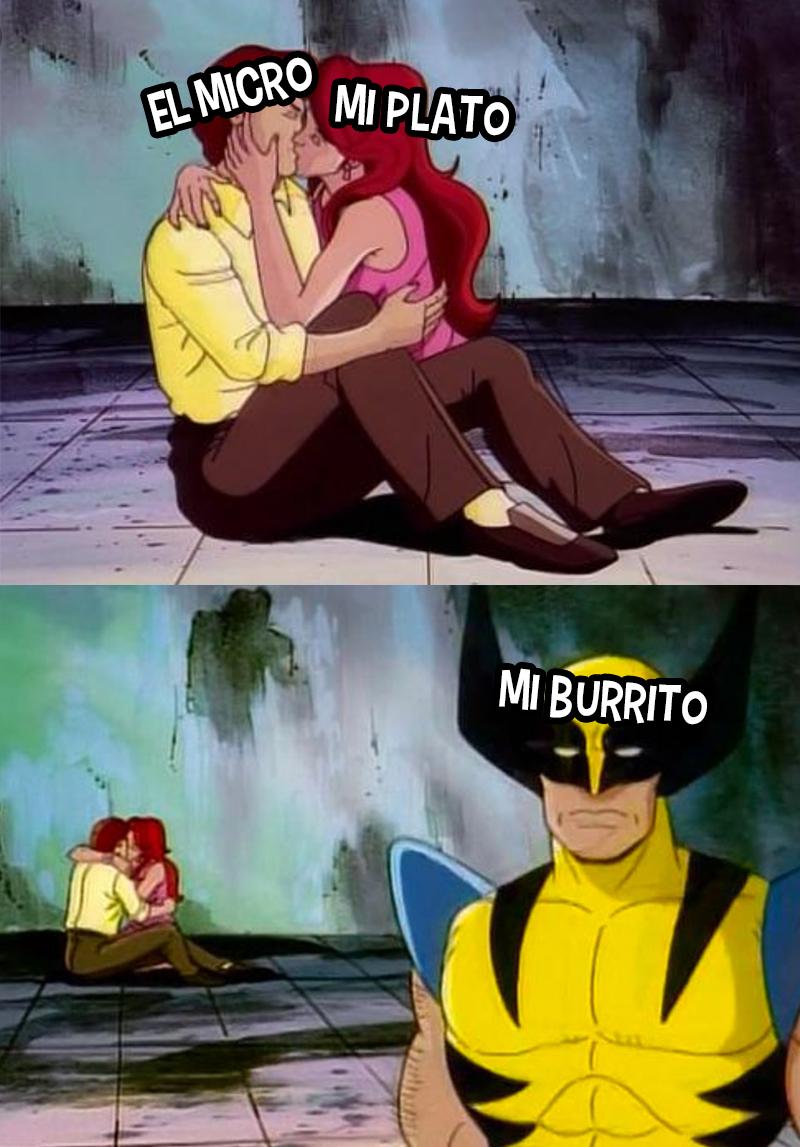 microondas burrito meme comida